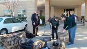 Delivering shoes to Union Gospel Mission