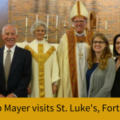 Bishop Mayer visits St. Luke's Fort Worth