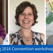 photos of three workshop presenters