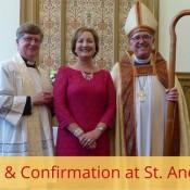 photo of Eddie, Shelley, and Bishop Mayer