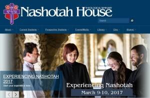screenshot of Nashotah house website