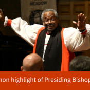 Rousing sermon highlight of presiding bishop visit