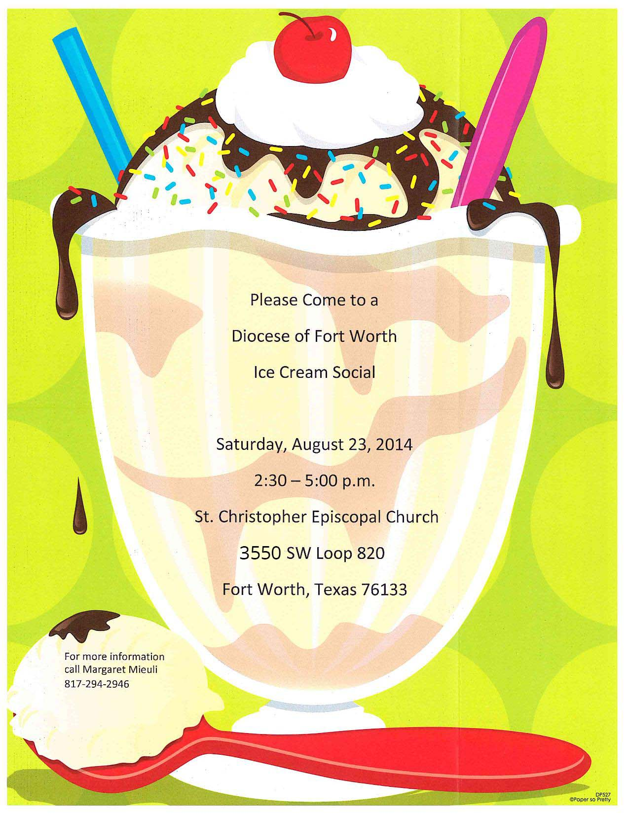 Yum! Come to an Ice Cream Social at St. Christopher on August 23 ...