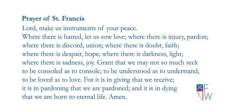 Prayer Of St Francis Episcopal Diocese Of Fort Worth