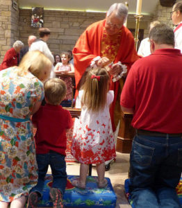 children receiving communion