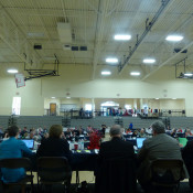 Convention meeting in gym