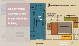 Floorplan of the convention center