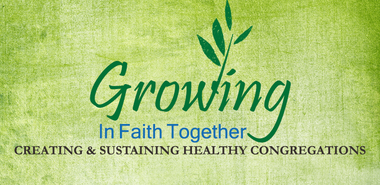 Green wordart for Growing in Faith Together workshop at the Episcopal Diocese of Fort Worth