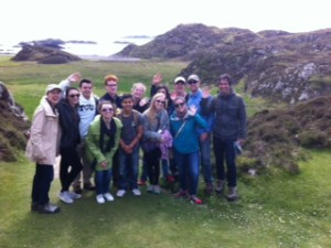 2015 pilgrimage group on Iona