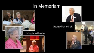 In memoriam Maggie and George