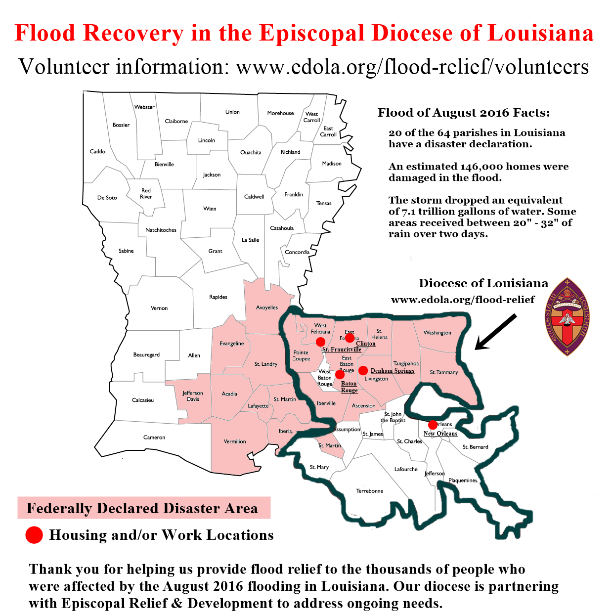 disaster repsonse to louisiana flooding