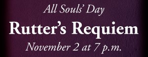graphic for Trinity's All Souls' Day service