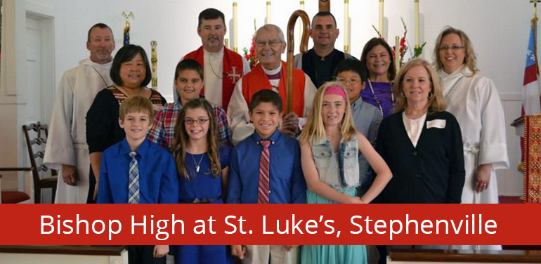 photo of Bishop High at St. Luke's Episcopal Church in Stephenville, Tx