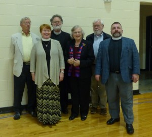 l-R Joel Walker, St. Martin-in-the-Fields, Keller; Amy Haynie, Trinity, Fort Worth; Christopher Jambor, All Saints', Fort Worth; Jane Dennis, St. Luke's, Stephenville; Norm Synder, Good Shepherd, Granbury; Kevin Johnson, St. Alban's, Theatre Arlington