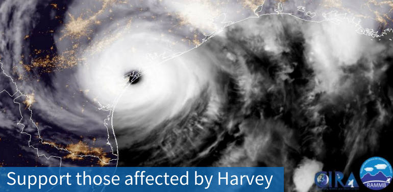 Satellite image of Harvey