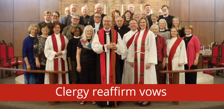 photo showing clergy in the Episcopal Diocese of Fort Worth