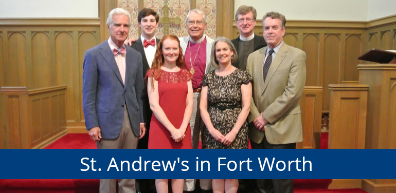 photo of confirmands in the Episcopal Diocese of Fort Worth