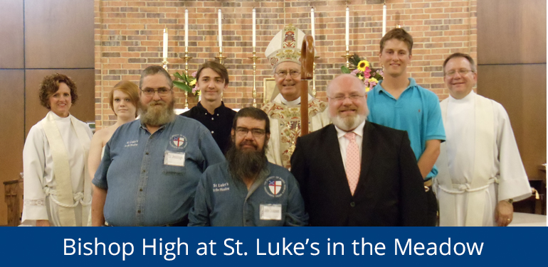 Bishop High with people from St. Luke's Episcopal Church in Fort Worth