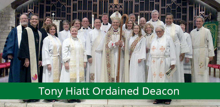 photo of Episcopal Diocese of Fort Worth clergy at Tony Hiatt's ordination to the diaconate